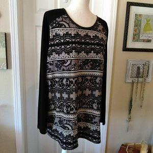 Worthington Lace Print Tunic🍂🍃